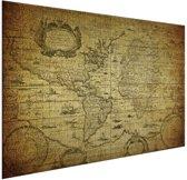 Wereldkaarten.nl - Historische wereldkaart op aluminium - Oud - Vintage 120x80 cm