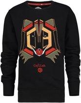 Vingino Jongens Sweatshirt - Deep Black - Maat 98