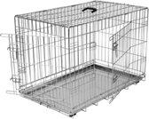 Topmast Bench Verzinkt Large  92x63x69cm   2 Deurs - Metalen Lade. Honden tot 35Kilo