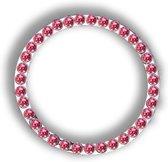 Bling bling auto interieur decoratie - chrome ring met Roze stras kristallen voor de auto startknop en andere knoppen