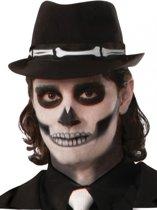 Trilby hoed met botten print voor volwassenen