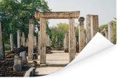 Eeuwenoude ruïnes van Polonnaruwa in Sri Lanka Poster 180x120 cm - Foto print op Poster (wanddecoratie woonkamer / slaapkamer) XXL / Groot formaat!