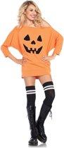 Leg Avenue 'pompoen jurkje', Model 86655 maat S/M (oranje)