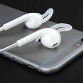 Trendy Gadget - Anti-slip siliconen oordopjes voor in-ear- en AirPods oordopjes, set van 3, Kleur Wit, Transparant