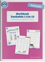 Deeltafels 1 t/m 10 rekenen geschikt voor groep 4, 5 en 6 Werkboek
