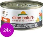 Almo Nature - Tonijn en Pijlinktvis - Kattenvoer - 24 x 70 g