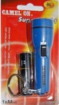 Camelion Zaklamp sleutelhanger + 1 AA-batterij Blauw/Geel
