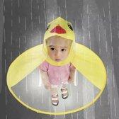 Maat M  UFO Kinderen Regen Hoed Paraplu Non Handvat Regen Cape Poncho Voor Kinderen en Studenten-Kids  Regenjas