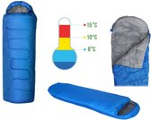 Travel Compact Mummy Slaapzak - Lichtgewicht Mummie Quilt Sleeping Bag - Voor Kamperen/Camping/Winter - 215x75cm - Blauw
