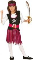 Roze piratenpak voor meisjes 128-134 (7-9 jaar)