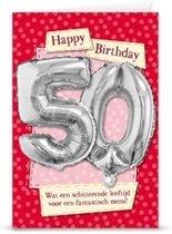 Miko - Kaart - Leeftijdballon - 50 Jaar