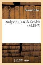 Analyse de l'Eau de Siradan