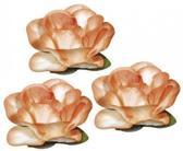 Papieren deco bloemen oranje 1,5 cm