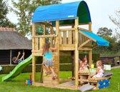 Jungle Gym - Farm Mini Picnic 160 - Houten Speelset voor Buiten - Met Glijbaan - Groen