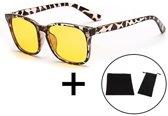LC Eyewear Computerbril met Blauw Licht Filter - Nachtbril - Unisex - Leopard