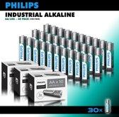 Philips Industrial Alkaline batterijen - AA penlite batterijen - voordeelverpakking - 30 stuks