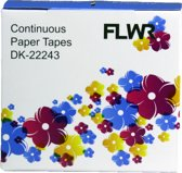 FLWR Brother DK-22243 compatible labels 102mm x 30,48 meter - Wit - Thermische labels - Hechtende papiertape Permant - Zelfklevend