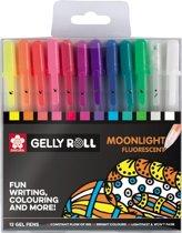 Gelly Roll Moonlight Mix set 12 gelpennen - Fluoriscerend effect