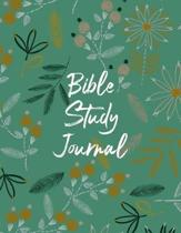 Bible Study Journal: Christian Scripture Notebook with Guided Prompts