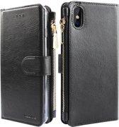 Xssive Wallet Book Case met Ritsvak voor Apple iPhone XS Max - Zwart