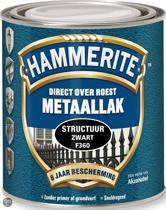 Hammerite Metaallak Structuur Zwart 0,75L