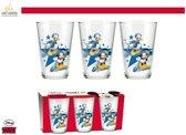 Disney Mickey Mouse & Donald Duck: Set van 3 glazen  - 23,7cl