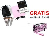 BANERRA Pink Make-up Kwasten Set + GRATIS Make-up Tas