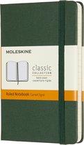 Moleskine Notitieboek-Pocket-Gelineerd-Groen-Harde Kaft