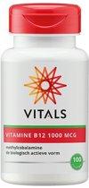 Vitals Vitamine B12 Methylcobalamine 1000 mcg - 100 zuigTabletten - Vitaminen