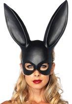 Zwart konijnenmasker - Verkleedmasker - Model 2628 One size (zwart)