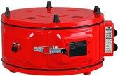Itimat - Mini oven - Vrijstaand - Rond - Rood - inclusief ovenschaal Ø40cm