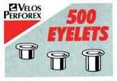4x Velos rivetten nr 3, lengte: 5,5mm
