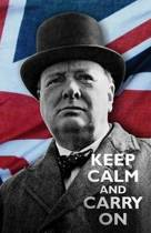 Keep Calm and Carry On- Winston Churchill Notebook/ Journal