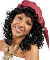 8 stuks: Pruik Florica met bandana