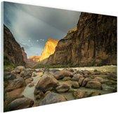 Colorado River Grand Canyon Glas 30x20 cm - klein - Foto print op Glas (Plexiglas wanddecoratie)