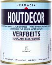 Hermadix Houtdecor verfbeits wit 619 750 ml