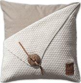 Knit Factory Barley - Sierkussen - 50x50 cm - Beige