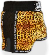 Joya Kickboks Short Leopard with MESH-XS