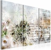 Schilderij - Starry Dandelions I