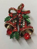 Petra's Sieradenwereld - Broche kerstklokjes