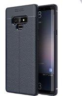 Mobigear Litchi TPU Hoesje Navy blauw Samsung Galaxy Note 9