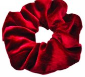 Schrunchie - Haarband/wokkel Bordeaux Rood Velvet - Officiele Mr. Pefe