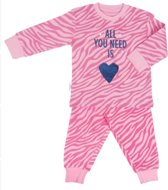 Frogs and Dogs Meisjes Pyjama All You Need Pink Print