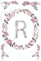 R Monogram Journal: Personalized Initial R, Motivational Heading Prompt - Lined Floral Notebook - Journal - Diary for Reflection