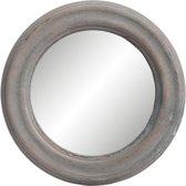 Clayre & Eef Spiegel Ø 19x2 cm grijs hout
