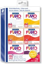 Fimo soft set - colour pack Warm Colours 5 + 1