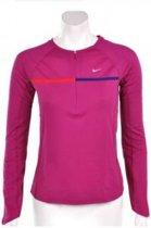 Nike Nike W Sphere Longsleeve 1/2 Zip Top - Sportshirt -  Dames - Maat XL - Roze paars