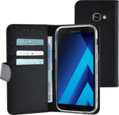 Azuri walletcase magnetic closure & cardslots - zwart - Samsung Galaxy A3 2017