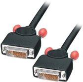 Lindy 41277 DVI kabel 20 m DVI-I Zwart