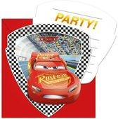 Disney Uitnodigingen Met Envelop Cars 3 6 Stuks